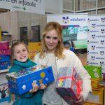Bracha geeft het startsein voor Schoenmaatjes 2014