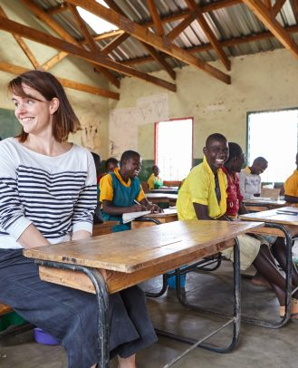 Sofie ziet met eigen ogen hoe Edukans het onderwijs in Malawi verbetert en ervoor zorgt dat meisjes de best mogelijke kansen krijgen (2016) ©Jacco van Laar