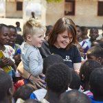 Sofie met haar zoontje Magnus in Malawi ©Jacco van Laar