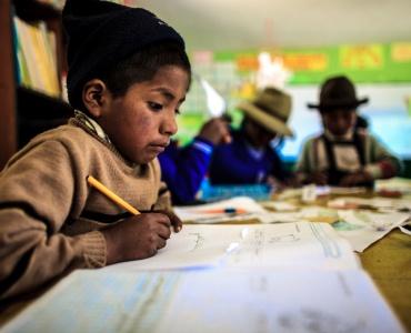 Leren over voedsel in Peru