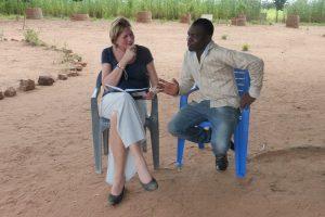 Jacqueline van Houten in Ghana