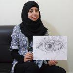 De Syrische Maryam met haar tekeningen