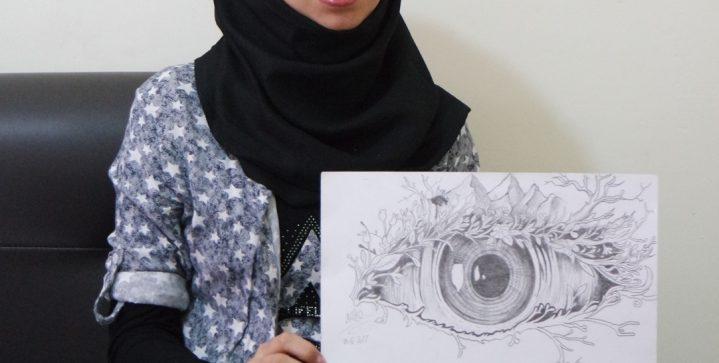 Maryam tekent over haar verdriet