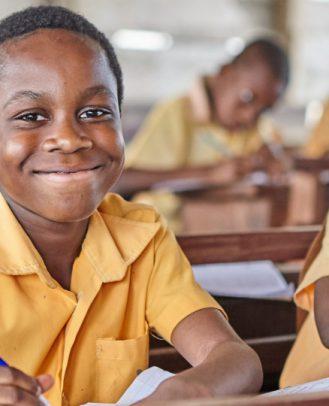 Klaslokaal in Ghana